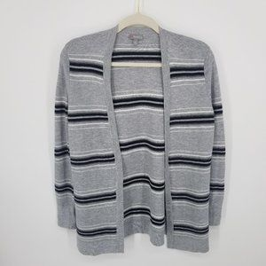 T By Talbots Boyfriend Ribbed Cardigan Sweater MP